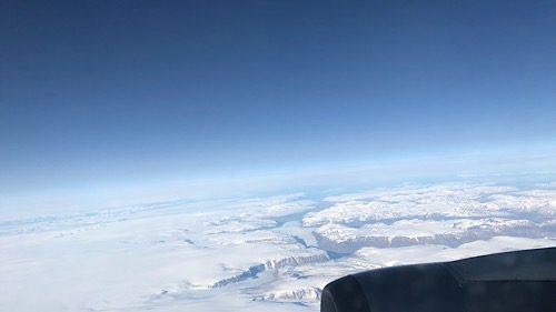 Flug nach Seattle, ueber Groenland