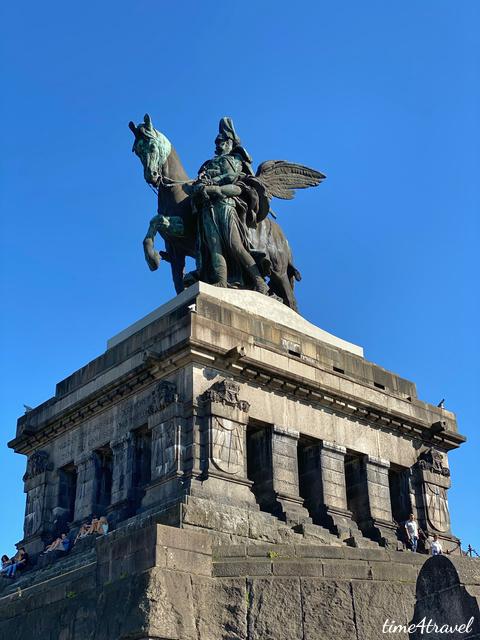 Das Kaiser Wilhelm I Denkmal am Deutschen Eck in Koblenz